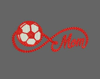 Infinity Sports Mom with Soccer Machine Embroidery Designs - Instant Download Applique Embroidery Design 319 A