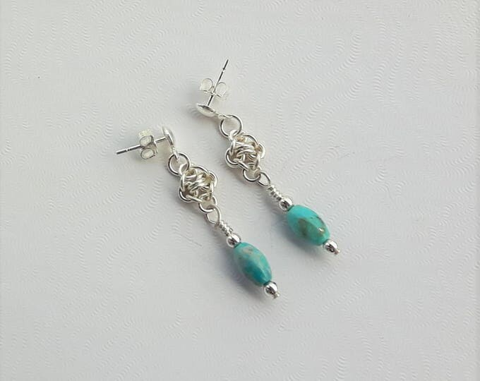 Robin's Egg Earrings (Post and Nugget Style)