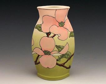Pink Dogwood Vase