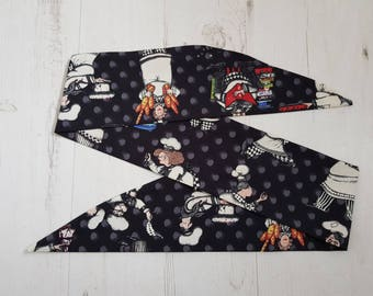 Bake Off Chef Rockabilly Head Scarf - Wired or Not - Hair Tie Wrap