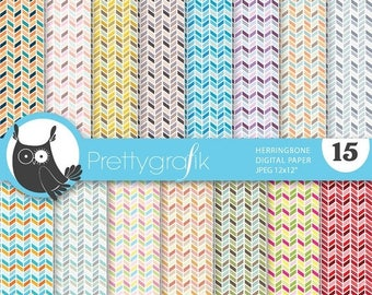 80% OFF SALE herringbone arrows digital paper, commercial use, scrapbook papers, background - PS634