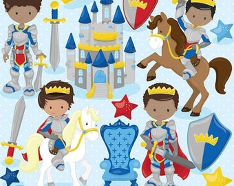 80% OFF SALE Fairytale prince clipart for scrapbooking, knight clipart commercial use, vector graphics, digital - CL806