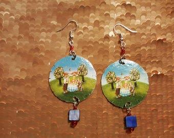 Ayinger German Village bottlecap earrings