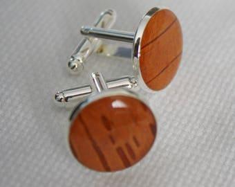Birch bark cuff links, stainless steel cuff links, nature cuff links, bark cuff links, cufflinks, birch jewelry, brown cufflinks