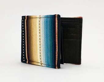 BLACK SARAPE textile handcrafted billfold style wallet