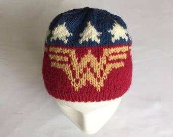 Wonder Woman Hat Knitting Pattern