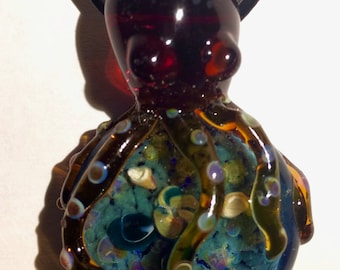 Octopus Glass Pendant