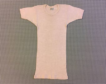 1960's, wool, rib knit, undershirt, in rose-beige, Men's size Small