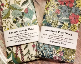 Reusable Beeswax Wrap || Eco-Friendly || Organic Beeswax || Food Storage || Reusable Food Wraps || Beeswax Wrap Set || Sandwich Wrap