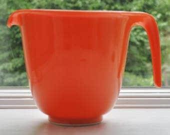Vintage Rubbermaid Orange Plastic Measuring Mixing Bowl Mid Century