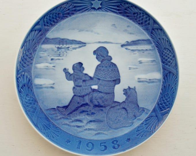 VIntage Bing & Grondahl Plate 1958 Sunshine Over Greenland Hans Hansen
