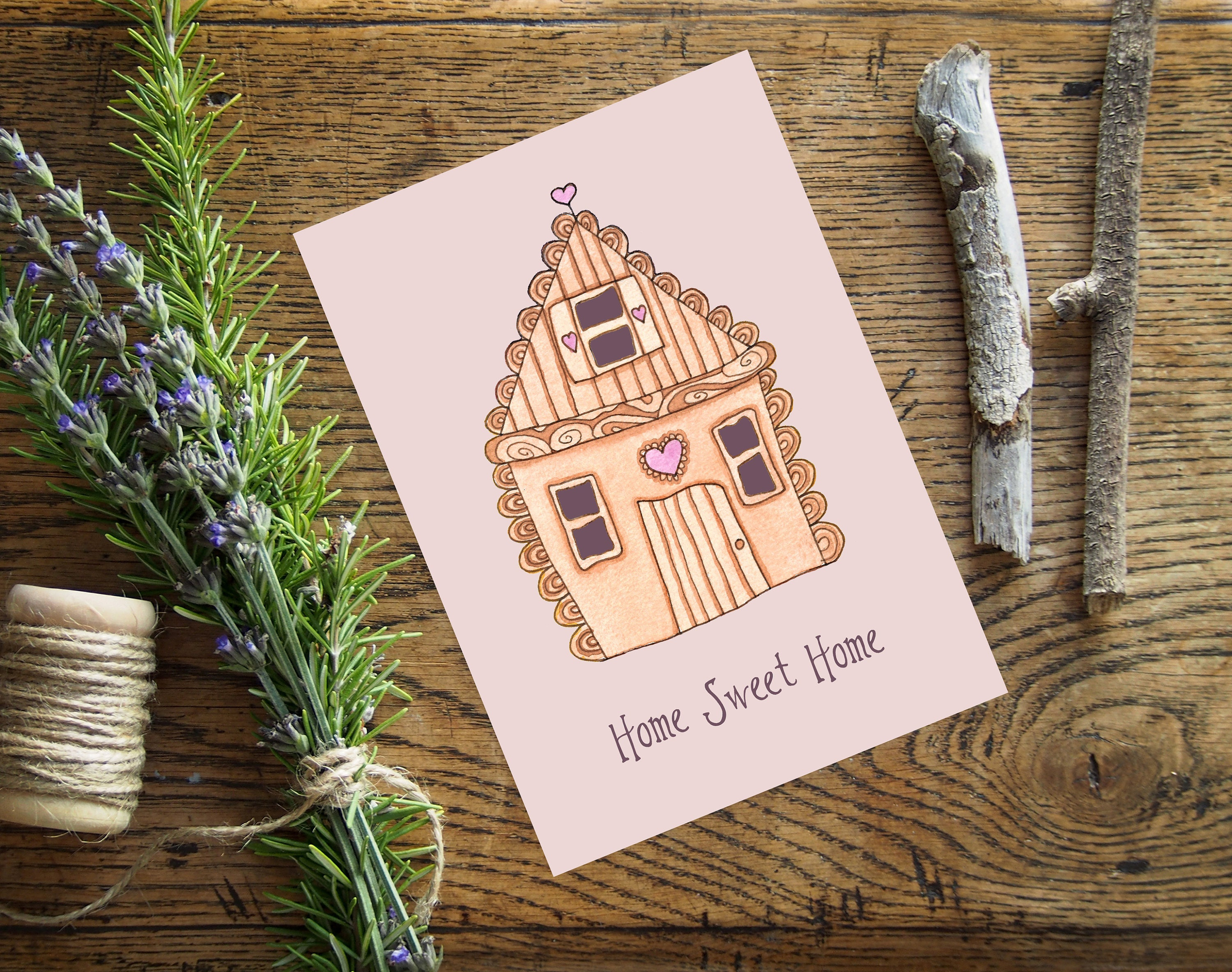Home sweet home greetings card envelope sweet gingerbread home sweet home greetings card envelope sweet gingerbread house new home moving card kristyandbryce Image collections