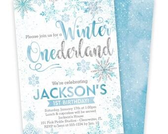 Winter Onederland Invitations, Onederland Invitation, Onederland Birthday, Onederland Invite, Winter Onederland, Onederland Party | 101
