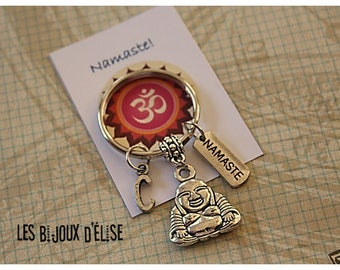 Buddha and Namaste Keychain Personalized Keychain (KC27)
