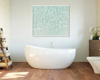 Abstract tropical water print, Beach print, Beach photography, contemporary art, coastal art, bathroom wall art, ocean photography