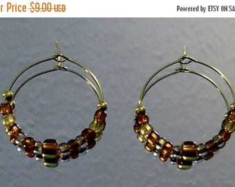 CLEARANCE Tortoise Shell Hoop Earrings by Woven Beads Browbands
