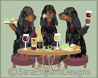 Dogs WINEing - Gordon Setter