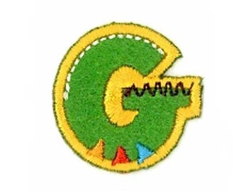 Fusible embroidered alphabet letter G sold individually