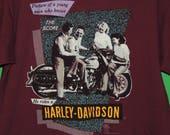 1988 Apple Harley Davidson Holoubek Men's Size L Large Duncansville PA Motorcycle T Shirt