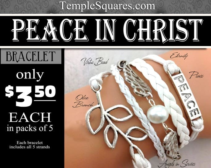Multi strand Bracelets - Peace In Christ YW 2018 Young Women LDS Jewelry temporarily out of stock. Orders now will ship last week of January