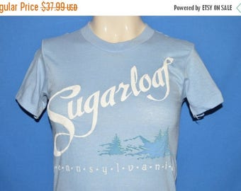 ON SALE 80s Sugarloaf Pennsylvania Mountains t-shirt Youth Large