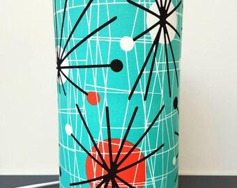 Atomic Fabric Lamp, in Turquoise