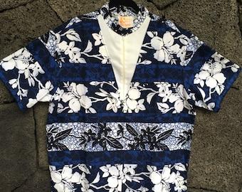 Waikiki Beach Boy Aloha Mock Neck Shirt by Iolani
