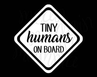 Tiny/Little Human/Humans - DECAL - For Cars/Laptops/Cups/Anything - Apply Yourself!
