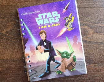 Star Wars Autograph Book - Star Wars Disneyland Autograph book - Star Wars Journal - Jedi Journal- Upcycled Little Golden Book Journ