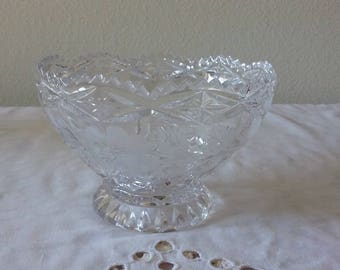 Imperlux lead crystal footed candy  dish