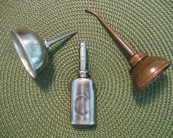 Vintage Oil Can Trio