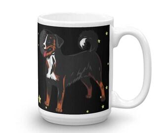I Love You To The Moon And Back Appenzeller Sennenhund 15 oz Coffee Tea Mug