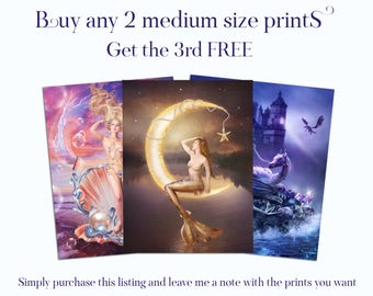 Buy 2 Get 1 Free ENCHANTED WHISPERS ART prints
