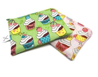 Mini zipper pouch Cupcakes