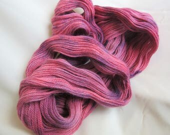 Hand Dyed/Painted - Pink & Purple - 3 Ply DK Weight Alpaca Yarn - 4.3 oz. - 250 Yds - 12-14 WPI