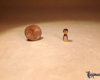 Miniature Kokeshi Made of wood - Item Number K12