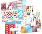 Big Happy Planner Stickers /  Rainbow Stickers / Planner Stickers / Erin Condren Hardbound / Full Kit / BHP52