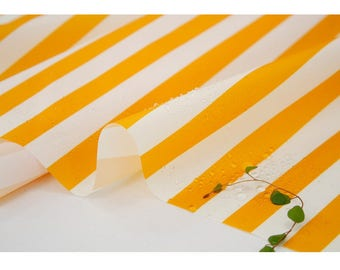 Waterproof Fabric Water-repellent Water Resistant Polyester PU Urethane Coated Cloth Outdoor _Yellow Stripe _ CH980698