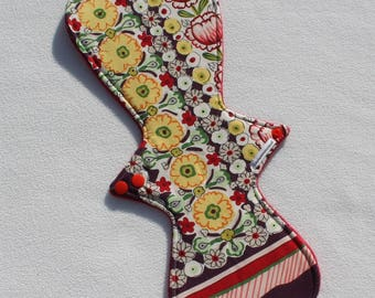 """Minky Topped. Reusable Modern Cloth Pad featuring a floral print  (40cm/15.75"""")"""