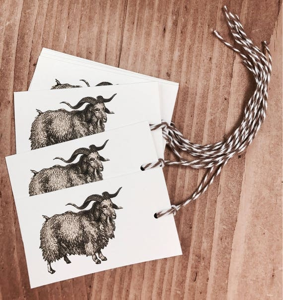 farm goat gift/favor tag 8 count