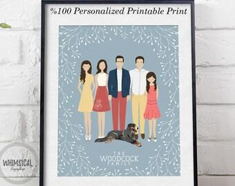 Digital Custom portrait illustration couple personalized sketch wedding anniversary, couple drawing illustration, printable print wall art
