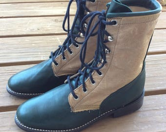 New old stock vintage leather boots size 6.5 dead stock deadstock
