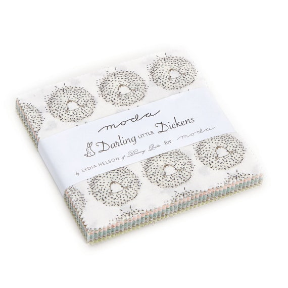 Darling Little Dickens by Lydia Nelson of Dreamy Quilts For Moda Fabrics Charm Pack 42 Coordinating 5 Inch Squares 49000PP