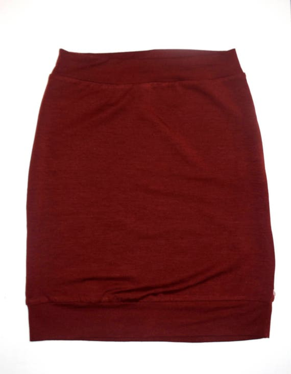 FIREBOMB - body-conscious skirt, stretch skirt, mini-skirt for women - Paprika