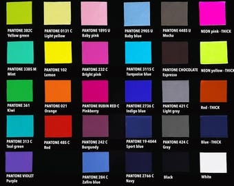 Available colors, Fabric sample, Colors, Macro Pictures, Size chart, Fabric description, Colorful clothes