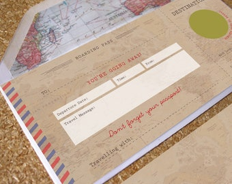 Vintage Scratch Off Boarding Pass Travel Gift