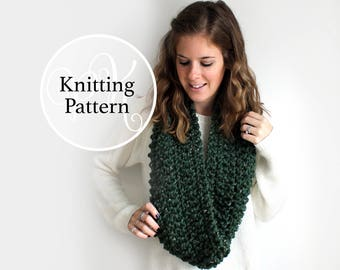 Knitting Pattern Bowie Cowl Instant Download