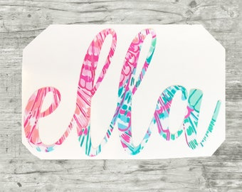 Name Decal, Name Sticker, Lilly Decal, Lilly sticker, Monogram Decal, BTS Decal, Yeti Monogram Decal