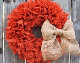 Fall Burlap Wreath, Autumn Wreath, Seasonal Wreath, Halloween Wreath, Rustic Thanksgiving, Rustic Fall Wreath, Modern Farmhouse Fall Decor