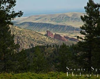 Red Rocks, Amphitheater, Summer, Rocky Mountain, Colorado, Mountain View, Denver - Fine Art Photograph